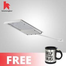 Keimavgear Waterproof Long Handle Solar LED Light Free Self Stirring Mug (Black)