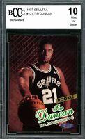 1997-98 Ultra #131 Tim Duncan Rookie Card BGS BCCG 10 Mint+