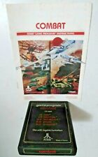 COMBAT Atari 2600  CX2601 Original Game Cartridge and Manual