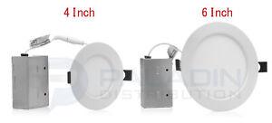 """4"""" / 6"""" LED Slim Recessed Ceiling Down Lights - Color Selectable 27K 30K 40K"""