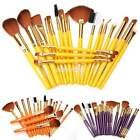 19Pcs Bulk Powder Foundation Eyeshadow Eyeliner Lip Brushes Cosmetic Makeup Sets