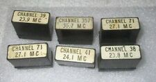Six Vintage Signal Corp. Style Plug In Crystals By Western Electric