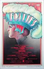 Sondheim's Follies Poster Gorgeous 1990 Reprint Print Hand-Signed by David Byrd