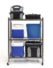 Shelf Storage Rack Foldable Wheels Garage Closet Warehouse Office Shed Cabin 250