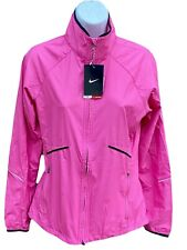 NIKE Betterworld Women's Light Stay Warm Reflective Running Rain Jacket Pink S
