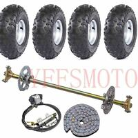 "Rear Axle Brake Disc Hub +4PCS 145/70-6"" wheel rim tire  T8F Chain Quad ATV Bike"