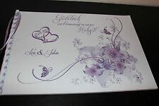 Gästebuch zur Hochzeit , lila