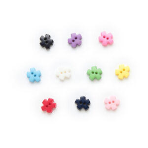 100pcs Snowflake Resin Buttons for Sewing Scrapbook Home Crafts Cloth Decor 6mm
