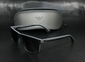 EMPORIO ARMANI EA4033 5229T3 Black Grey Polarized Grey Grd 56mm Men's Sunglasses