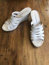 ATHENA ALEXANDER Beige Wedge Slide Sandals Size 9