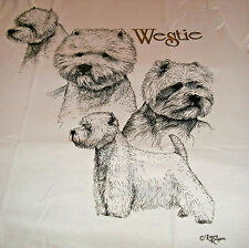 "New ListingWest Highland Terrier T-shirt "" White "" Xl ( 46 ~ 48 )"