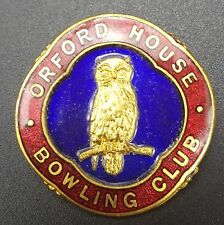 Vintage Orford House Bowling Club Enamel Pin Badge by Miller
