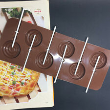 1pc Silicone Cake Chocolate Cookie Lollipop Pop Mould Mold Tray Decor DIY Hot