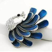 Women's Crystal Rhinestone Peacock Love Brooch Pin Exquisite Wedding Party
