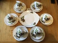 Royal Stafford Vintage Bone China Tea Service / Set - For 4 'Beechwood' VGC