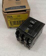 Qob320 Square D Circuit Breaker 20Amp 3Pole 240V New In Box!