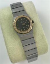 Ladies Concord Mariner SG Stainless Steel 18k Gold Diamond Bezel Quartz Watch