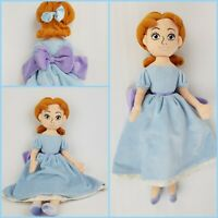 Official Disney Store Peter Pan Wendy Darling Plush Doll Vintage soft toy