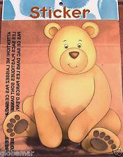 Sticker pour les meubles, portes chambre enfant bébé Ourson  Mfg  25 cm x 24 cm