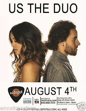 Us The Duo 2014 Salt Lake City Concert Poster-Folk Rock Music, Michael & Carissa