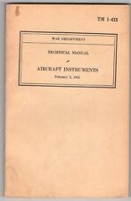 Manual:  War Dept TM 1-413  Aircraft Instruments - 1942