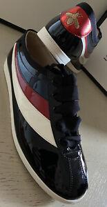 NIB Gucci Mens Vernice crystal Men Sneakers Shoes Black/Red/white 10 US / 9G UK