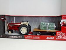 Big Farm 1/16 Scale Farmall 1206 with haywagon and bales