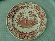 Spode Red/Cranberry Ware Dinner Plate Girl at the Well Scene Georgian Series