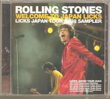 """The rolling stones """"welcome to Japan riffs"""" le Japon promo cd sampler 2003"""