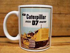 300ml COFFEE MUG, CATERPILLAR D7 DIESEL TRACTOR, VINTAGE ADVERT
