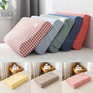 Memory Foam Cushion Cover Cotton Latex Casual Contour Pillow Cases Comfortable
