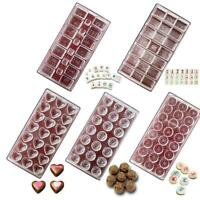14 Style Polycarbonate Clear Chocolate Mold Candy Jelly Cookie Cake Tray Mould