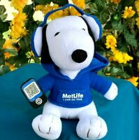 """Snoopy Peanuts Blue Camo Military Camouflage Metlife Plush Toy Soldier Small 6/"""""""