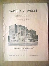 Sadler's Wells Ballet 1937-THE GODS GO A'BEGGING;APPARITIONS;PAS DE TROIS'FACADE
