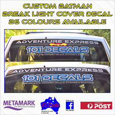 CUSTOM BATMAN SYMBOL BREAK LIGHT COVER decal sticker. Car Ute 4x4 4wd Wagon Van