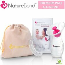 NatureBond Manual Breast Pump Silicone Breastfeeding Saver Suction Baby Mothers