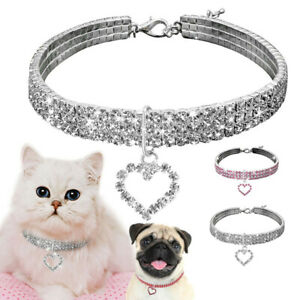 Dog Cat Rhinestone Diamante Collar Necklace Puppy Crystal Bling Pet Accessory