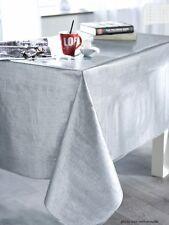 Nappe en toile cirée EFFET TISSAGE ARGENT 140X250 cm