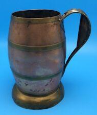 Vtg Copper & Brass Beer Stein Tankard Alois Aufrichtig Maker St Louis Antique