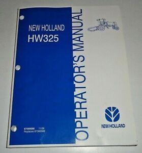 New Holland HW325 Windrower Operators Maintenance Manual Original! 11/06 NH