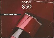 VOLVO 850 manuale 1995 manuale di istruzioni manuale libro di bordo BA