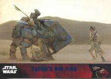 Star Wars Force Awakens S1 Blue Parallel Base Card #75 Teedo's big find
