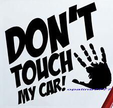 ADESIVO DON'T TOCCARE MY CAR JDM HUMOUR autoadesivo golf clio mégane audi