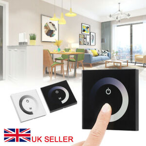 DC 12V-24V Touch Panel LED Lights Dimmer Smart Controller Wall Mounted Switch