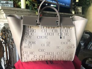 NWT CH Carolina Herrera Vendome Obelisque Tote Handbag