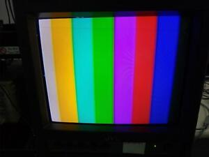 """JVC TM- 9U A 9"""" NTSC Color CRT Video Monitor TESTED AND WORKING"""