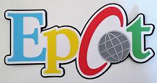 Epcot Disney Title Paper Die Cut Paper Scrapbook Embellishment