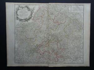 1790 Vaugondy Atlas Universel map  FRANCONIA - GERMANY - Cercle de Franconie