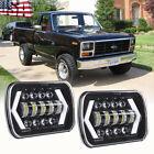 Pair For Ford F-150 1981 1982 1983 1984 7x6 5x7 Led Headlight Hi Lo Beam H6054