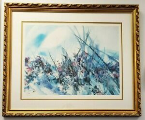 """""""Wild Flowers"""" by Zoe Mac Limited Edition Print Offset Lithograph AP 14/100 COA"""